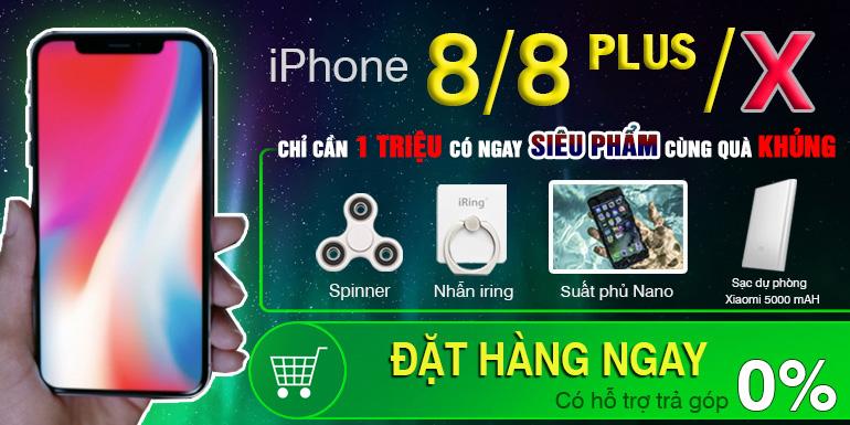 iPhone 8/8 Plus/X chính thức lên kệ tại 24hStore với giá chỉ 1 triệu