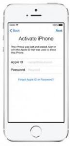 iPhone 5s bị khóa icloud
