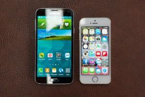 iPhone 5s và galaxy s5