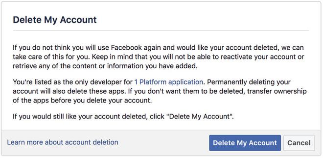 Cách xóa tài khoản Facebook vĩnh viễn hình 3