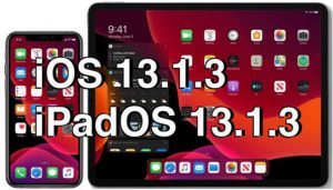 iOS và iPadOS 13.1.3