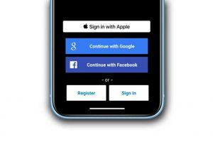 đăng nhập với apple
